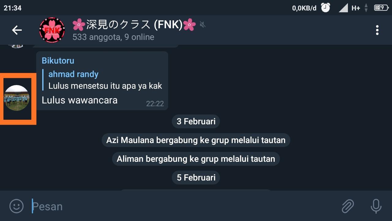 cara membagikan tautan grup telegram