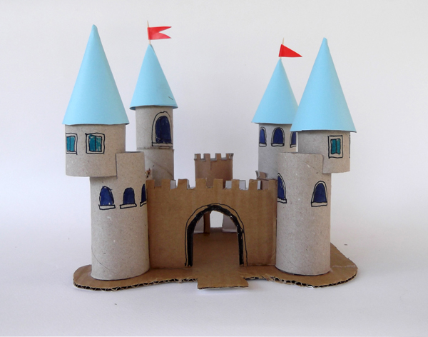 toilet paper roll, castle, palace, princess palace, princess castle, crafts, architecture crafts,