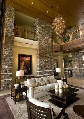 Salas con estilo - Piedra natural para paredes interiores ...