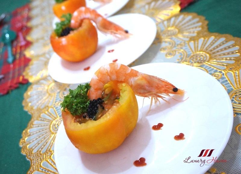 christmas recipes chilled prawn tomato salsa with caviar