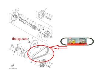 Daftar Kode V-Belt Motor Matic Yamaha