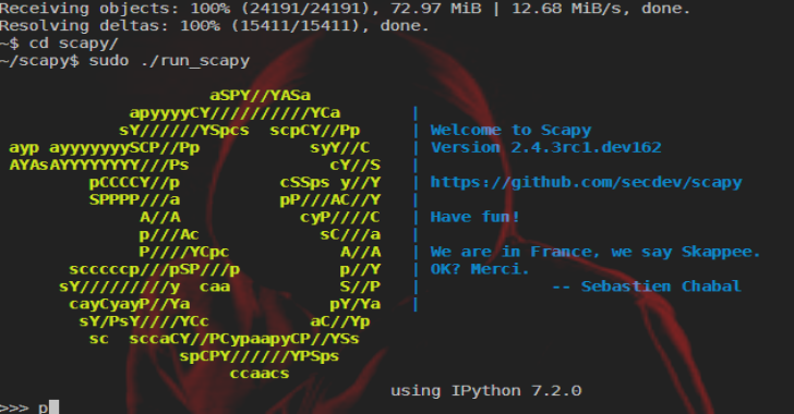Scapy : Python-Based Interactive Packet Manipulation Program & Library