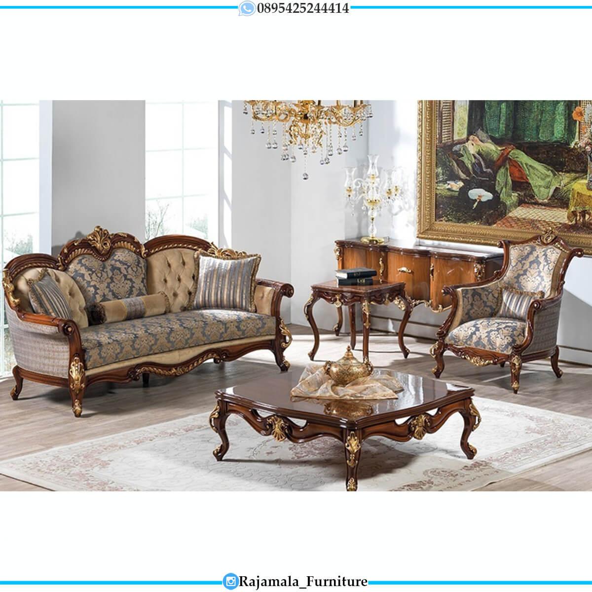 Set Sofa Mewah Jepara Luxurious Carving Design Greatest RM-0743