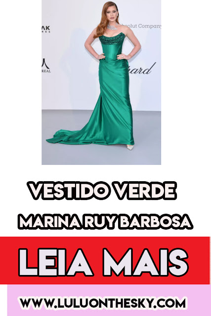 O vestido verde da Marina Ruy Barbosa em Cannes