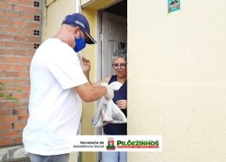 Prefeitura de Pilõezinhos entrega 4 toneladas de peixes para as famílias da cidade e zona rural