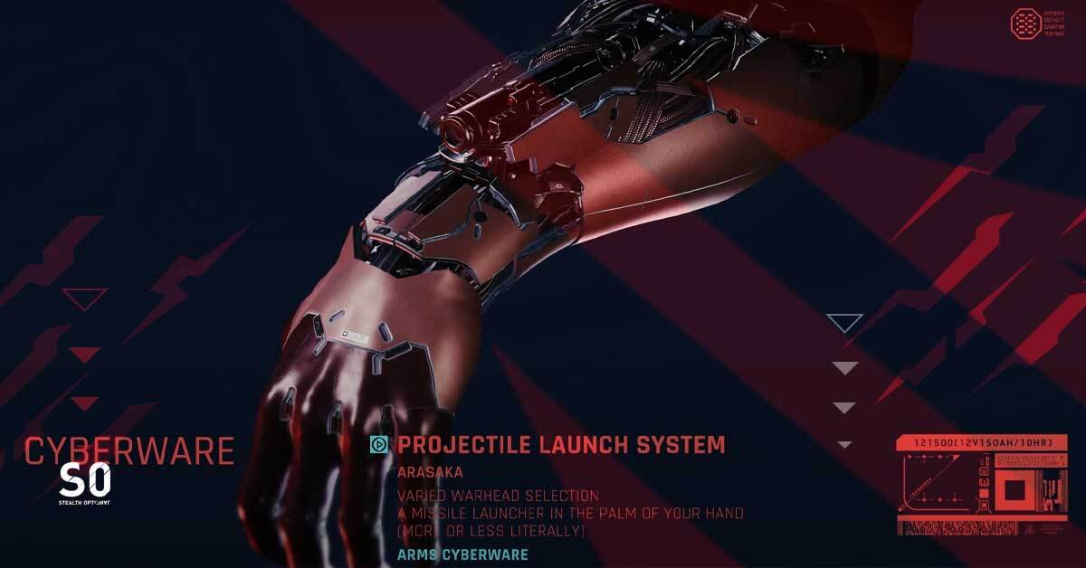 Projectile Launch System Implant