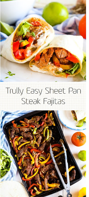 Trully Easy Sheet Pan Steak Fajitas