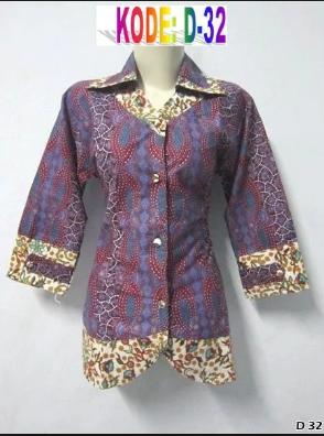 Trend Baju Batik untuk Kerja Wanita Lengan Panjang Terbaru