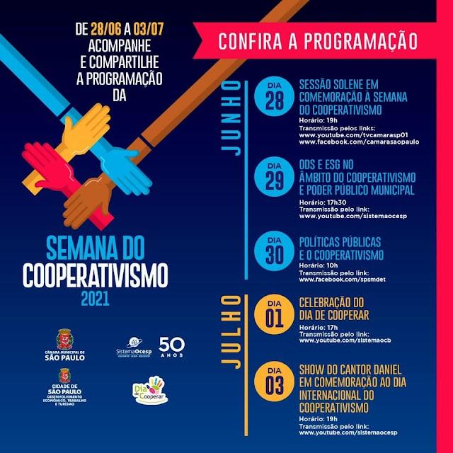 Semana do Cooperativismo tem início nesta segunda-feira (28)