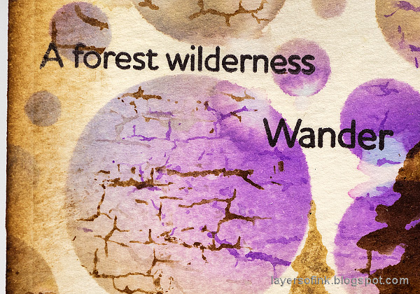 Layers of ink - Forest Tag Tutorial by Anna-Karin Evaldsson.