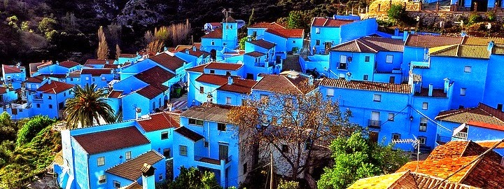 Colorful Cities Juzcar at Spain