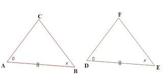 Dua sudut yang bersesuian sama besar dan sisi yang menghubungkan kedua titik sudut itu sama panjang