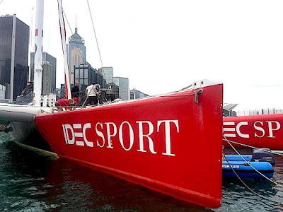 Francis Joyon et Idec Sport sont arrivés en Chine