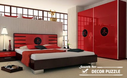Japanese style bedroom - screen room divider wall