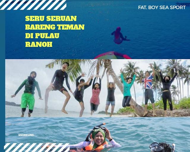 Snorkling di Pulau Ranoh Barelang Batam