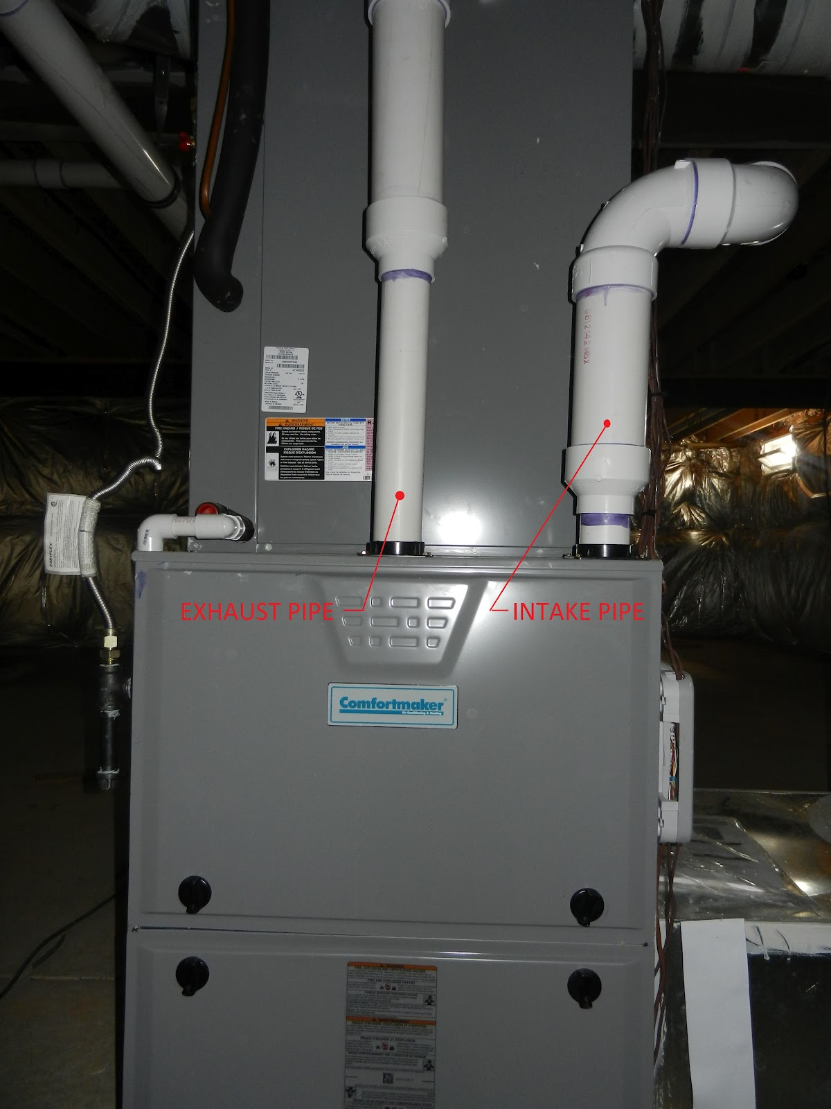 High Efficiency Furnace Venting Diagram Yamaha Blaster Wiring Hvac Intake Pipe Information Moving To The Country