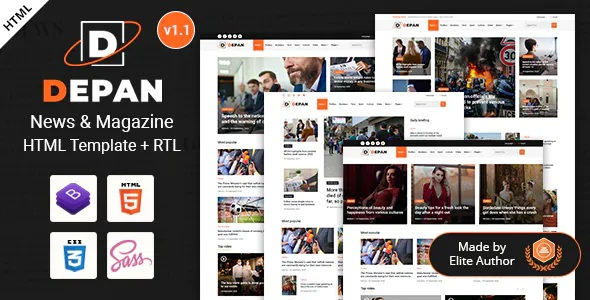 News Magazine Premium HTML Template