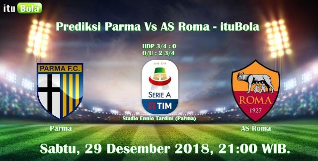 Prediksi Parma Vs AS Roma - ituBola