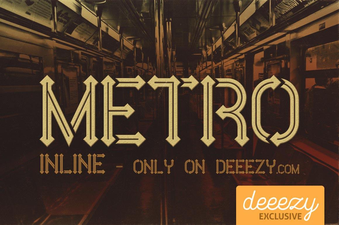 Font gratis terbaru - Metro Inline