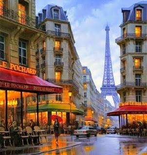 La torre Eiffel en el autobús turístico por París
