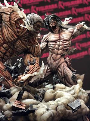 Eren contra el Titán Acorazado de Attack On Titan