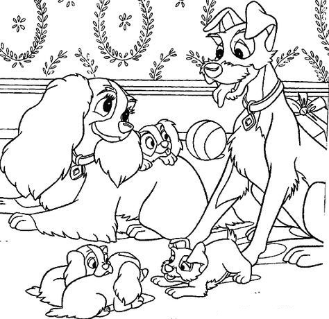 Dogs coloring pages 40