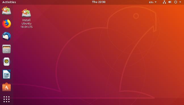 سطح مكتب Ubuntu Linux 18.04 LTS.