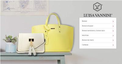 Bolsos de la marca Luisa Vannini de diseno italiano y en piel en oferta