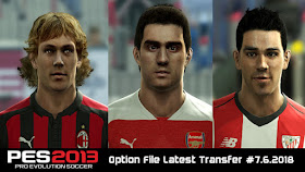 PES 2013 Option File Latest Transfers (06 July 2018)