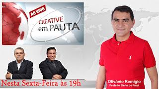 Olivânio concederá última entrevista de 2016 a imprensa picuiense na Creative TV nesta sexta-feira (30)