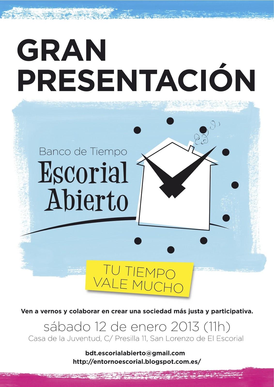Entorno escorial programa del acto para presentar el for Banco abierto sabado madrid