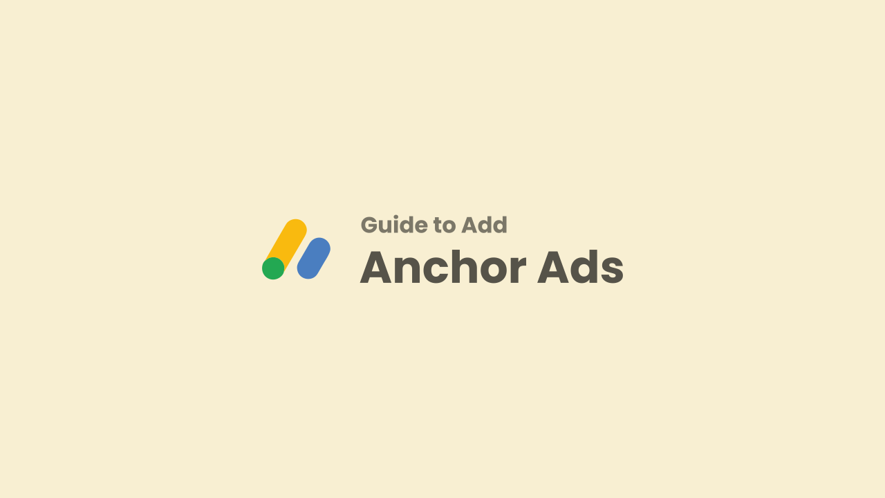 Adding Anchor Ads on Mobile