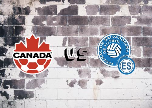 Canadá vs El Salvador  Resumen