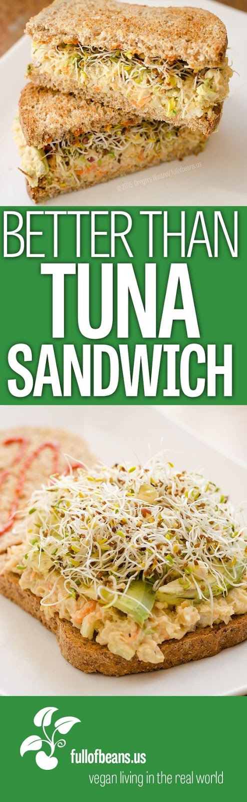 Portable and easy meals, like the classic tuna salad sandwich, are an essential. This chickpea vegan tuna salad is a delicious vegan alternative. Try it!