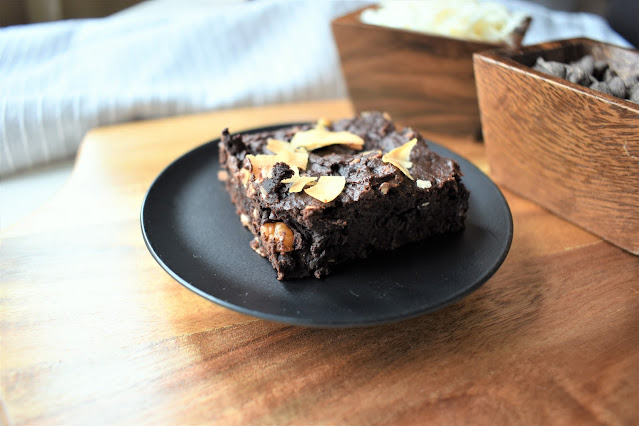 Chocolate Coconut Fudge Vegan Brownies