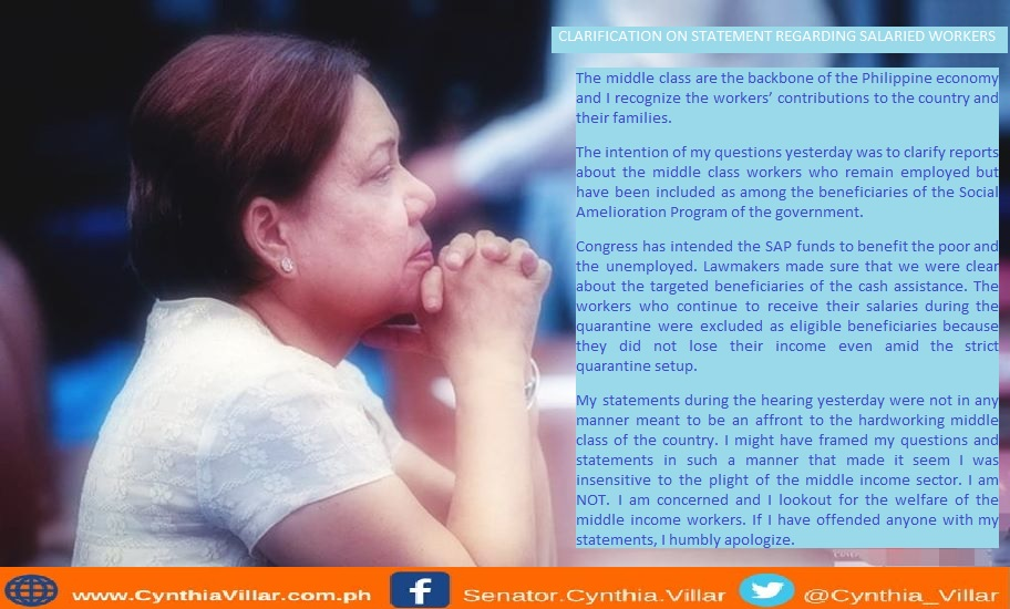 Villar apologizes for middle-class remarks after drawing ire