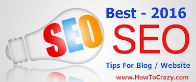 Best SEO Tips For Blog - 2016