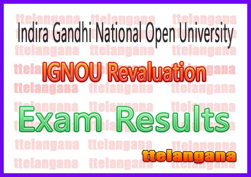 IGNOU Indira Gandhi National Open University Revaluation Result
