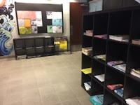 Shelving for handouts