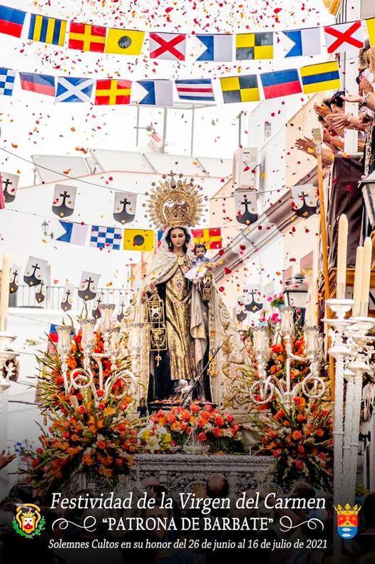 Cartel de los Cultos a la Stma. Virgen del Carmen 2021 de Barbate