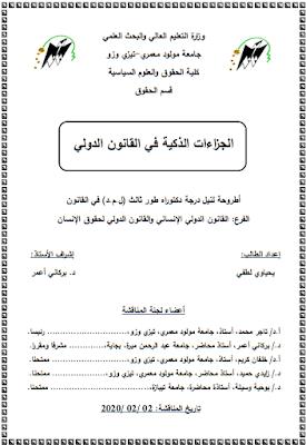 أطروحة دكتوراه: الجزاءات الذكية في القانون الدولي PDF