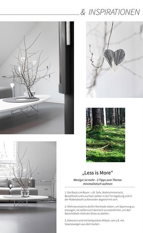 Minimalistisch wohnen, Einrichtungstipps zum minimalistischen Wohnstil findest du im MINIMALmagazin.