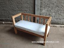 teak outdoor 2 seater sofa - custom