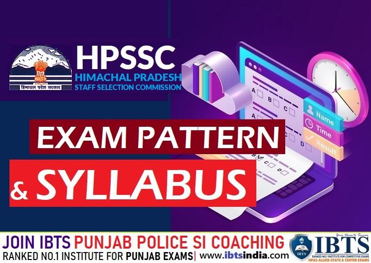HPSSC Hamirpur Clerk Exam Pattern & Syllabus 2021