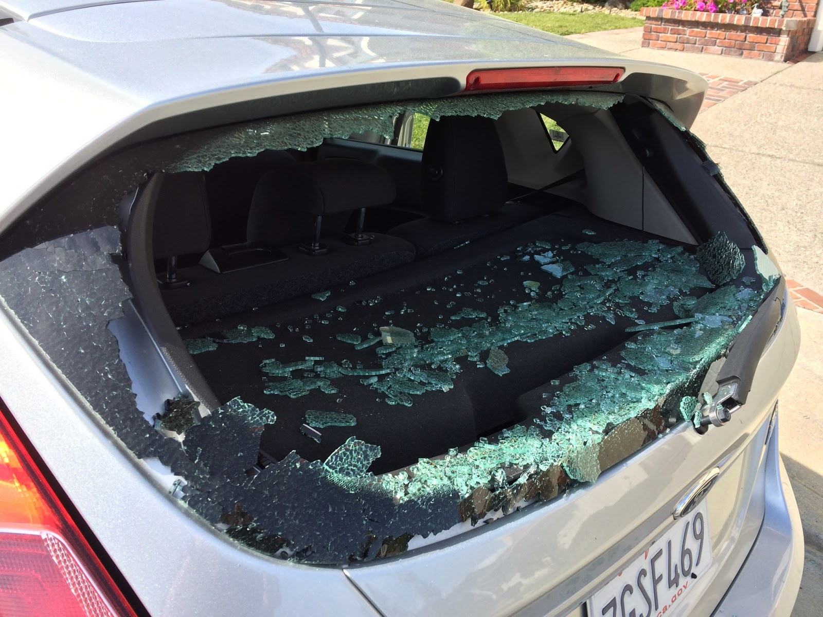 Someone Smashed Window In Rental Car