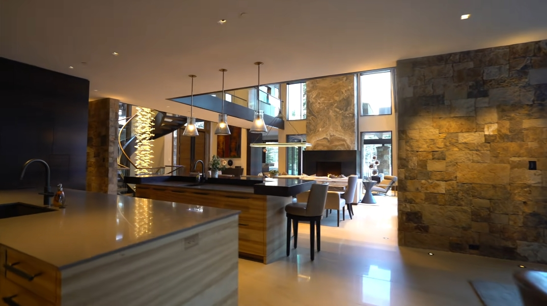 46 Interior Photos vs. 2950 Booth Creek Dr, Vail, CO Ultra Luxury Modern Rustic Home Tour