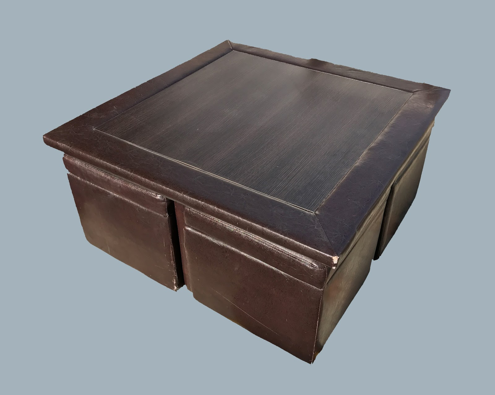 Uhuru Furniture Collectibles Coffee Table With 4 Storage Ottomans 120 Sold