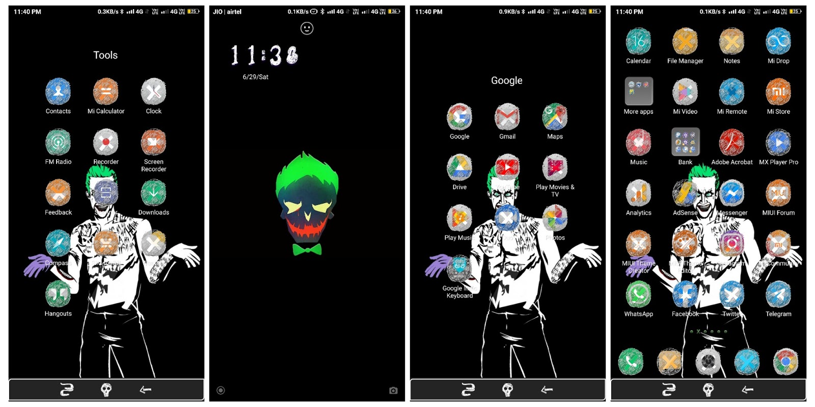 Joker V10 MIUI Theme For Xiaomi Mobile || Zhuti Link