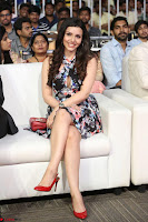 Kyra Dutta in a Deep neck Small Dress at Shamanthakamani pre release function ~  Exclusive 030.JPG