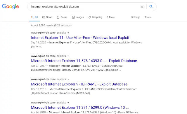 Searching Google for exploits
